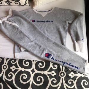 Champion powerblend appliqué fleece sweatsuit